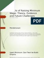 Effects of Raising Minimum Wage
