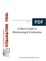 A Short Guide to Monitoring and Evaluation