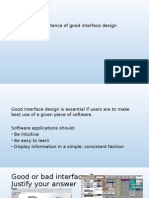 OCR F452 1.1 Good Interface Design