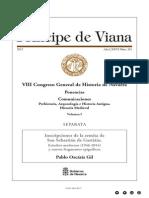 Inscripciones de la ermita de San Sebastián de Gastiáin. Estudios modernos (1946-2014) y nuevos fragmentos epigráficos