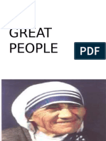 Great People (Grade 9 Lesson)
