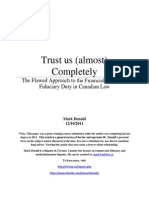 Trust Us (Almost) Completely - The Flawed Approach to the Financial Advisor's Fiduciary Duty in Canadian Law