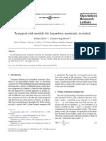 Transport Risk Models for Hazardous Materials