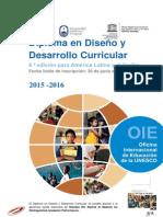 Folleto Diploma en Diseño y Desarrollo Curricular 2015-2016