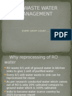 Ro Waste Water Management