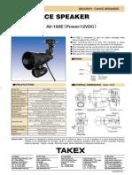 Takex AV-100E Data Sheet