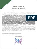 Comunicado Ofical Psicología Ante Las Demandas de Enfermería