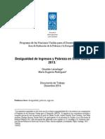Desigualdad de Ingresos y Pobreza en Chile 1990 a 2013. *