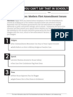 take exception - first amendment activity