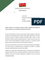 47203-1063 GP XII-4 -InPA - Requerimento Para Audição Do Sr. Secretário de Estado Da Cultura Relativamente Ao Concurso de Apoio Direto Às Artes, Anual e Bienal, De 2015