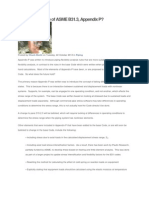 Future of Appendix P ASME B31.3