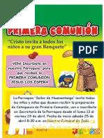 Afiche de Primera Comunión