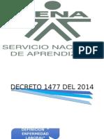 Decreto 1477-Tabla de Enfermedades Profesionales