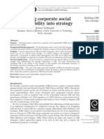 Building CSR Into Strategy