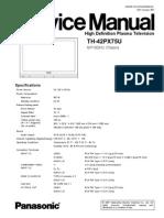 3545737 Panasonic TH 42PX75U Chassis GP10DHU TV Plasma Service Manual(1)