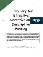Vocab for Effective Narrative & Descriptive Writing