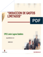 Deduccion de Gastos Limitados Javier Laguna 31012013