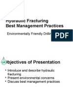 Hydraulic Fracturing Best Management Practices