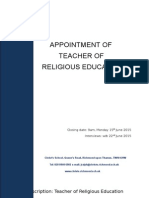 Teacher of Religious Education