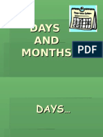 Days and Months