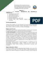 ANALIZAR CADA FACTOR  GEOGRÁFICO DEL DESARROLLO URBANÍSTICO