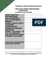 Formulário Pré-Inscrição 2015 Verão