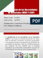 Planificación de Las Necesidades de Materiales (MRP y ERP)