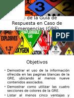Uso de La Guía de Respuesta en Caso de Emergencia GRE
