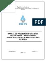 Manual Personalidad Juridica Junta de Agua