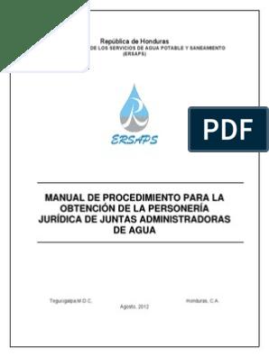 Manual Personalidad Juridica Junta De Agua Presupuesto