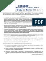 Comunicado CONAREP 29-5-15