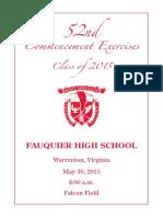 2015 FHS Graduation Program