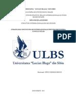 Strategiile Institutiilor Internationationale in Prevenirea Conflictelor - SPINU SERGIU