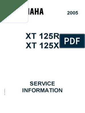 xt 125r xt 125x: service information | motor oil | clutch  scribd