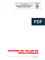 Informe Taller de Involucrados Seguridad Ciudadana Pampas
