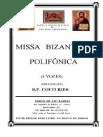 Livro de Cantos Da Divina Liturgia de São João Crisóstomo