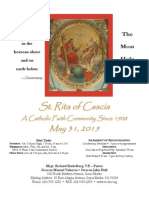 St. Rita Parish Bulletin 5/31/2015
