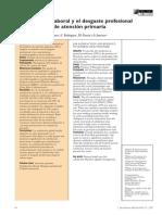 La satisfacción laboral y el desgaste profesional de los médicos de atención primaria