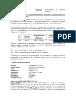 Solicitud de Independizacion - para inscripción de subdivision sunarp