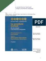 La Aventura Textual-De La Lengua a Otros Lenguajes