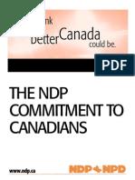 2000 Platform - New Democratic Party