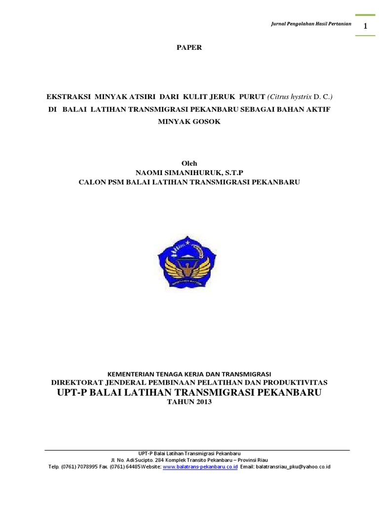 Minyak atsiri pala pdf reader