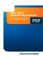 Power Direct Residential Electricity Standing Offer - Actew AGL Rate