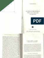 El Espacio Biografico. Dilemas de La Subjetividad Contemporanea (Frag.)