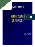 Metabolisme Lipides
