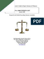 2008 Expert Witness List