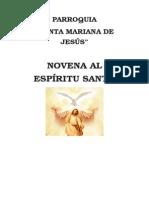 Novena Al Espiritu Santo