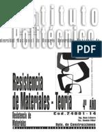 24001-14 Resistencia de Materiales - Teoría