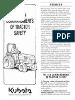 Kubota 10 Commandments Tractor Safety
