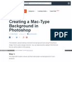 Creating a Mac Type Background